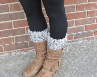 Handmade crochet boot cuffs with button.  Wool/acrylic Blend.  Made to order.