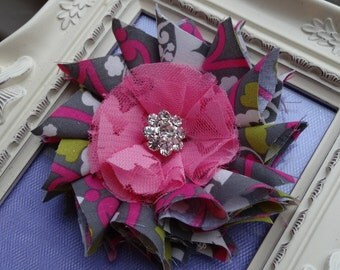 NO SEW Fabric Flower PDF Tutorial With Hairclip Instructions/ Fabric Flower Tutorial/ Hair Bow/ Instructions