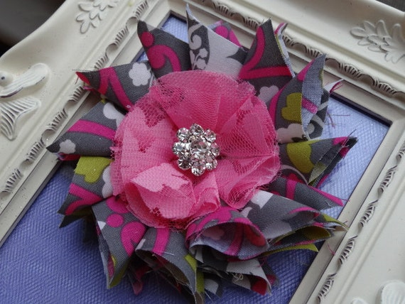 Little and Lovely: Fabric Flower Tutorial - at last   Fabric Hair Flowers Tutorial
