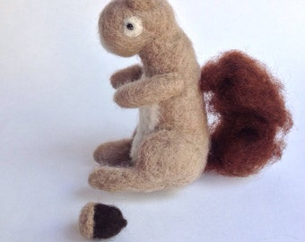 Jerry the needle felted squirrel.