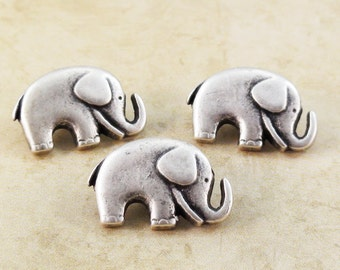 Elephant Buttons Metal Shank 20mm Antique Silver Qty 3