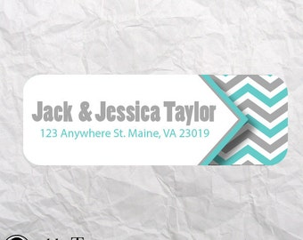 PRINTABLE Address Label - Chevron