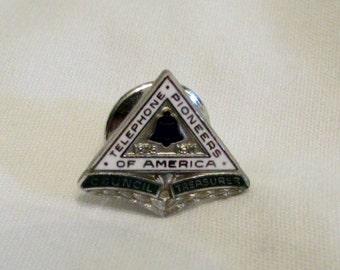 "Tie Tac/Lapel Pin - ""Telephone Pioneers of America"""