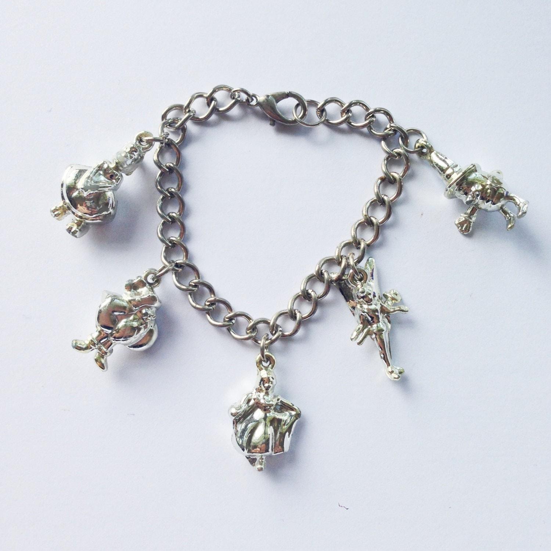 90s thumbelina charm bracelet disney silver