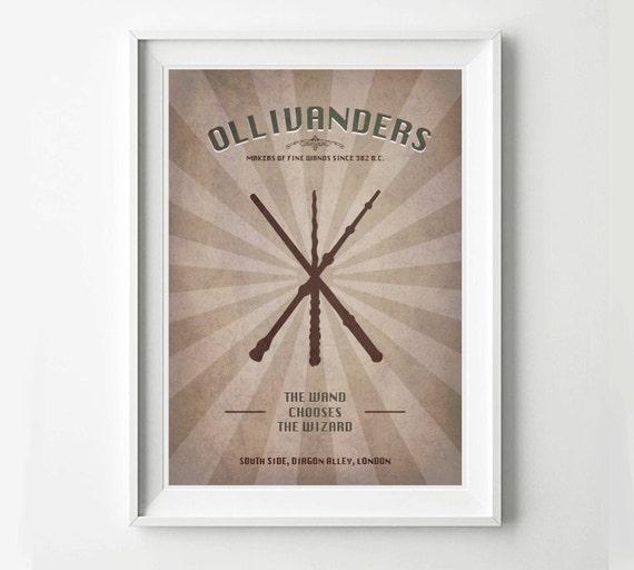 Harry Potter Vintage Poster Ollivanders Advertisement