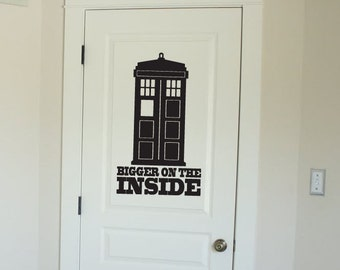 Doctor Who Tardis Vinyl Wall Decal Sticker