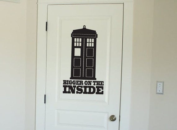 doctor who tardis vinyl wall decal sticker by scriptitvinyl