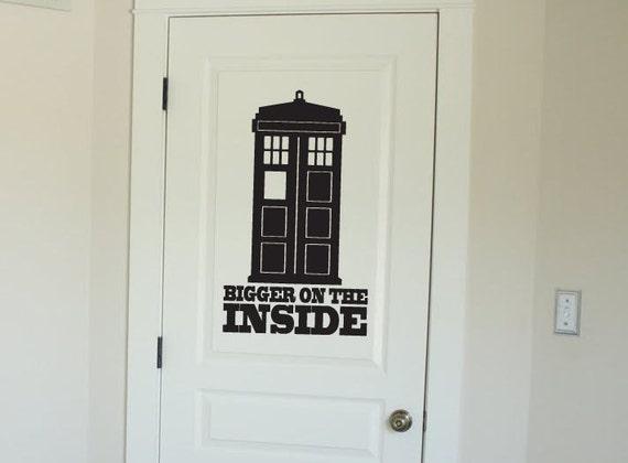 doctor who tardis vinyl wall decal sticker. Black Bedroom Furniture Sets. Home Design Ideas
