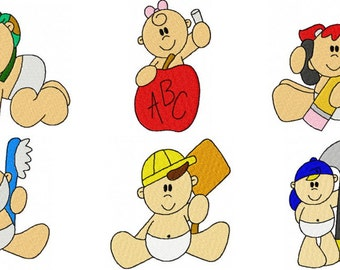 39 Occupational Babies Embroidery Design Files 4x4 with Finger Puppets Set #2