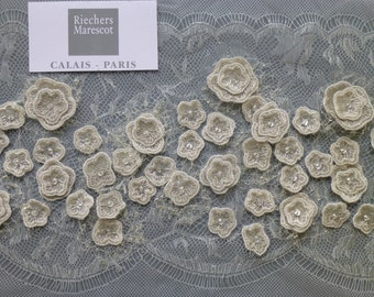 French lace with single flowers of Riechers Marescot