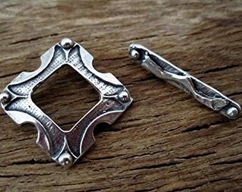 Handmade Designer Sterling Silver Toggle Clasp (one set) (C) (N)