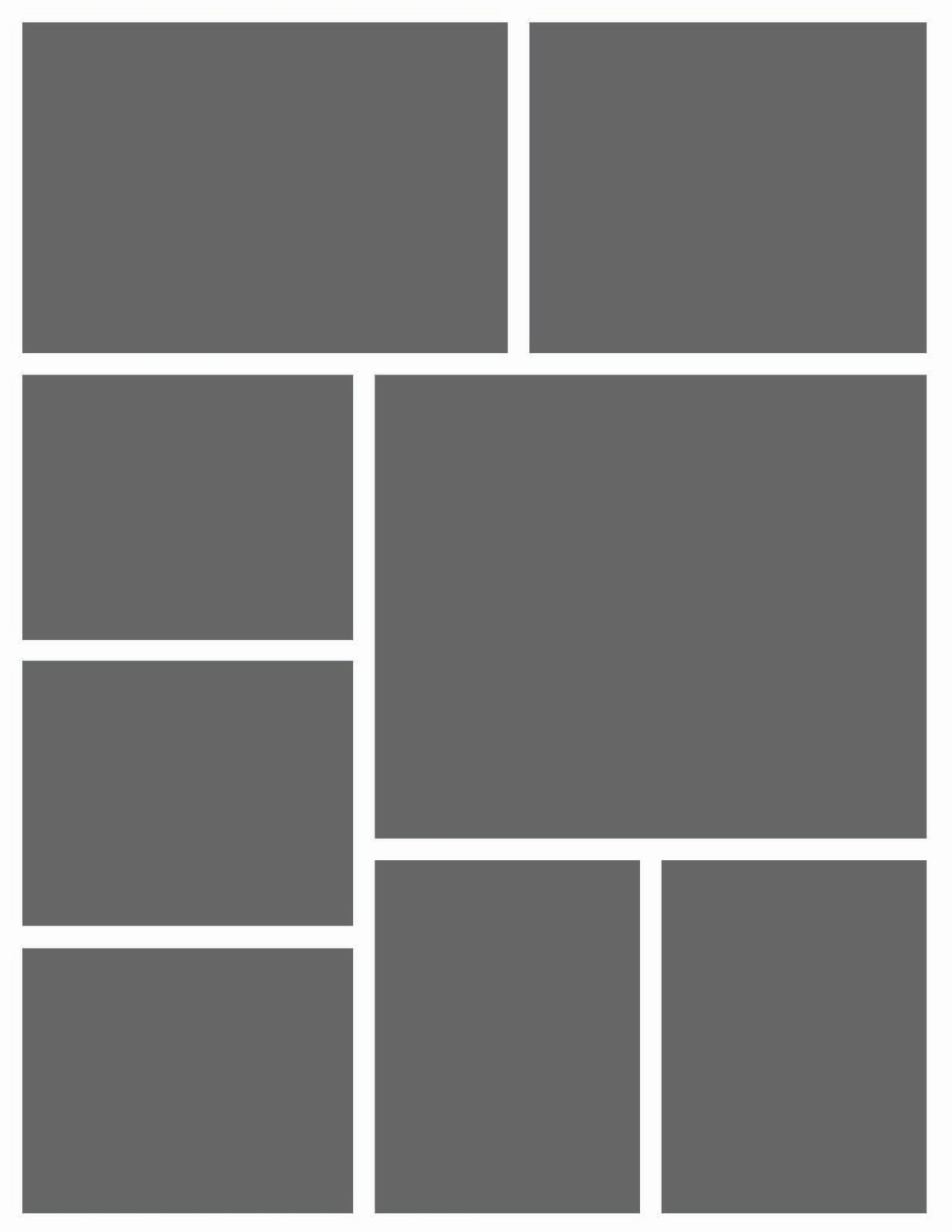 Instant Download 8 5x11 Storyboard Photographers Template