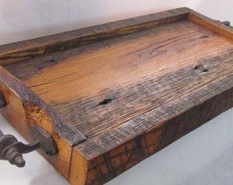 Reclaimed Wood Serving Tray ; Barn wood tray