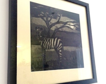 Midnight Zebra Print