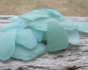 Light Blue MEDIUM Sea Glass Bulk Beach Glass Bulk Wedding Glass
