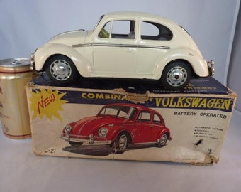 Vintage VW Volkswagen Battery Operated Made in Japan MIB No Fall