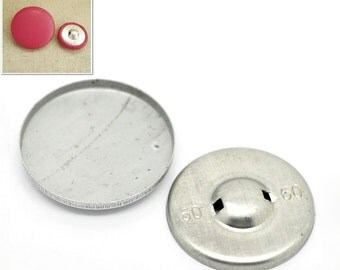 "4 Back Cover Buttons, size 60, 1 4/8"" (37mm)"