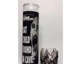 Bat Child Horror Prayer Candle