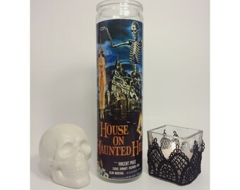 House on Haunted Hill Horror Prayer Candle