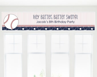 Batter Up! Baseball Party Banner - Custom Party Decorations