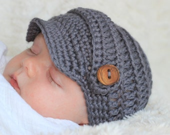 Baby Boy, Baby Boy Hat, Baby Boy Beanie, Baby Boy Newsboy Hat, Baby Boy Coming Home, Infant Crochet Hat, Newborn Knitted Hat, Infant Boy Hat