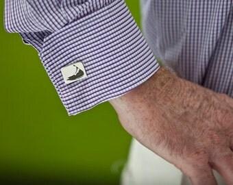 Sterling Silver Cufflink - Nantucket Cufflinks - Sterling Silver Cuff Link - Wedding Cufflinks - Custom Cufflinks - Cool Mens Gifts