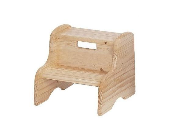 Step Stool Solid Wood Unfinished Or Finished By Endeavourtoys
