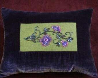 Velvet Beaded Pillow