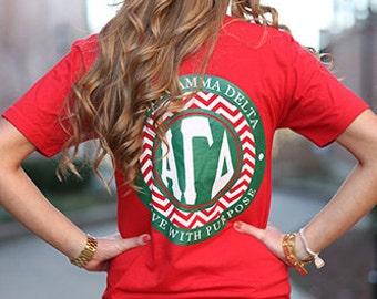 Alpha Gamma Delta Chevron American Apparel Tshirt