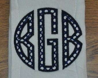Personalized Appliqued Burp Cloth for Baby
