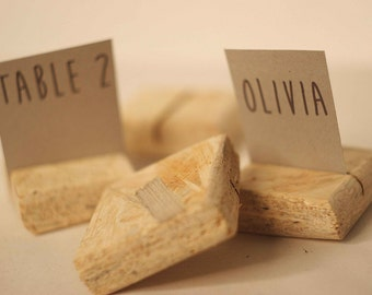 50 pieces rustic place card holders, Wedding placecard, name holdes.