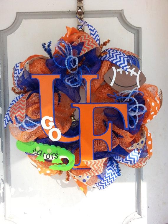 University Of Florida Gators Football Deco Mesh Door Wreath