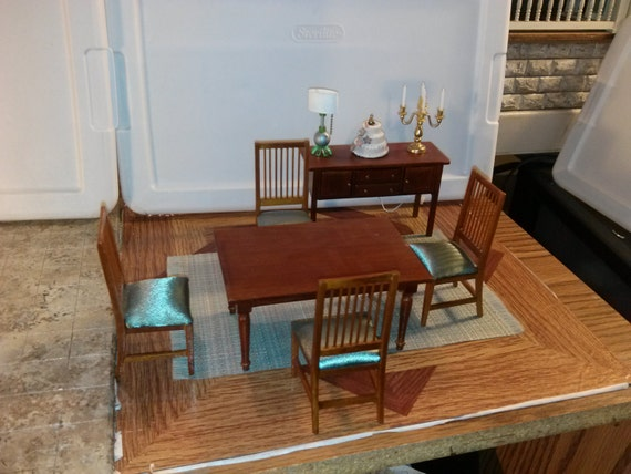 high quality dollhouse furniture dining room set lot gorgeous