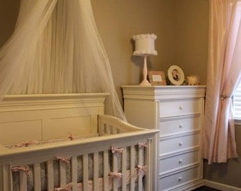 Gorgeous Canopy Great for Crib, Bassinet, Bed or Decoration
