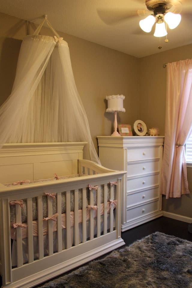 Gorgeous canopy great for crib bassinet bed or decoration for White canopy crib