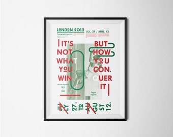 It's not what you win - Typographic poster - Digital print - Graphic design - Sports