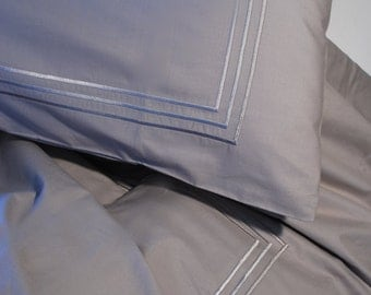 Grey multi satin duvet set