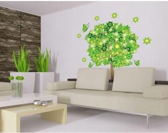 Flower Tree II floral wall decal, sticker, mural, vinyl wall art