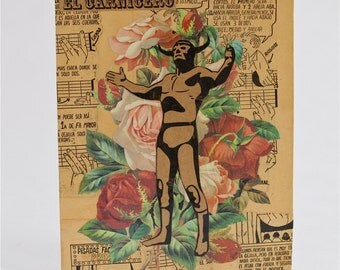mexican wrestler collage.