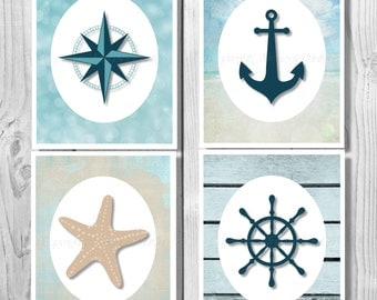 Nautical Decor Nautical Anchor Decor Bathroom Decor Nautical Beach Sign Beach