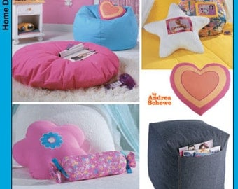 OUT of PRINT Simplicity Pattern 5105 Teen Room Accessories