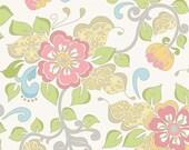 Riley Blake Priscilla Main in Blue - Lila Tueller Design - Floral - 1 yard