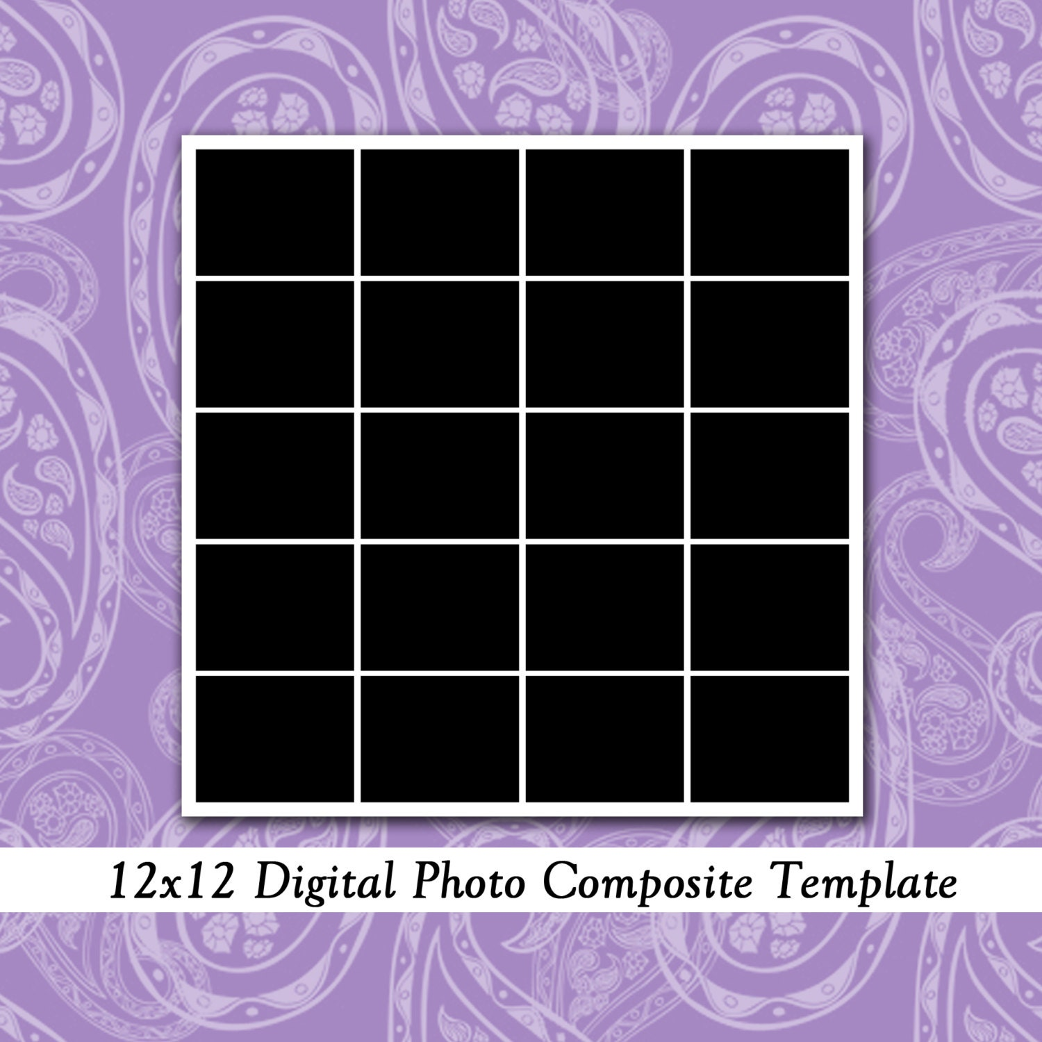 photo collage number templates - 12x12 photo template photo collage photography template