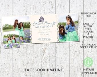 Spring Facebook Timeline Photoshop Template - F1S001