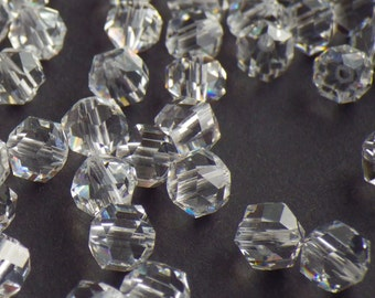 Vintage Swarovski Crystal Beads, Rare Article 5007, 6mm Crystal Beads, 20 Vintage Crystal Beads