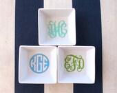 Bridesmaid gift, Monogrammed Ring Dish, Small Dish