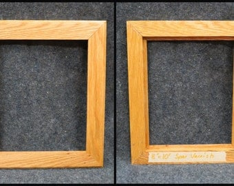 Hand-Crafted 8 x 10 Red Oak Picture Frame