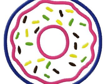 Donut Applique Embroidery Design