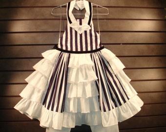 NEW Custom Boutique Design Dress & Pants Set - Size 6 7 8 SAILING