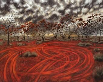 "1 print  ""Woomera landscape"" , limited edition"